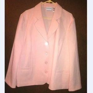 Alfred Dunner Pink Cream Peach Jacket